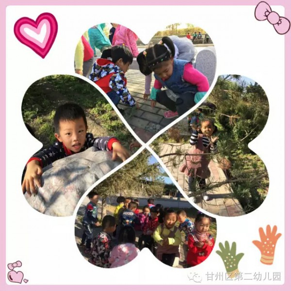 大班幼儿进行捡树叶、做贴画、画 小班幼儿开展捡树叶、亲子秋游、