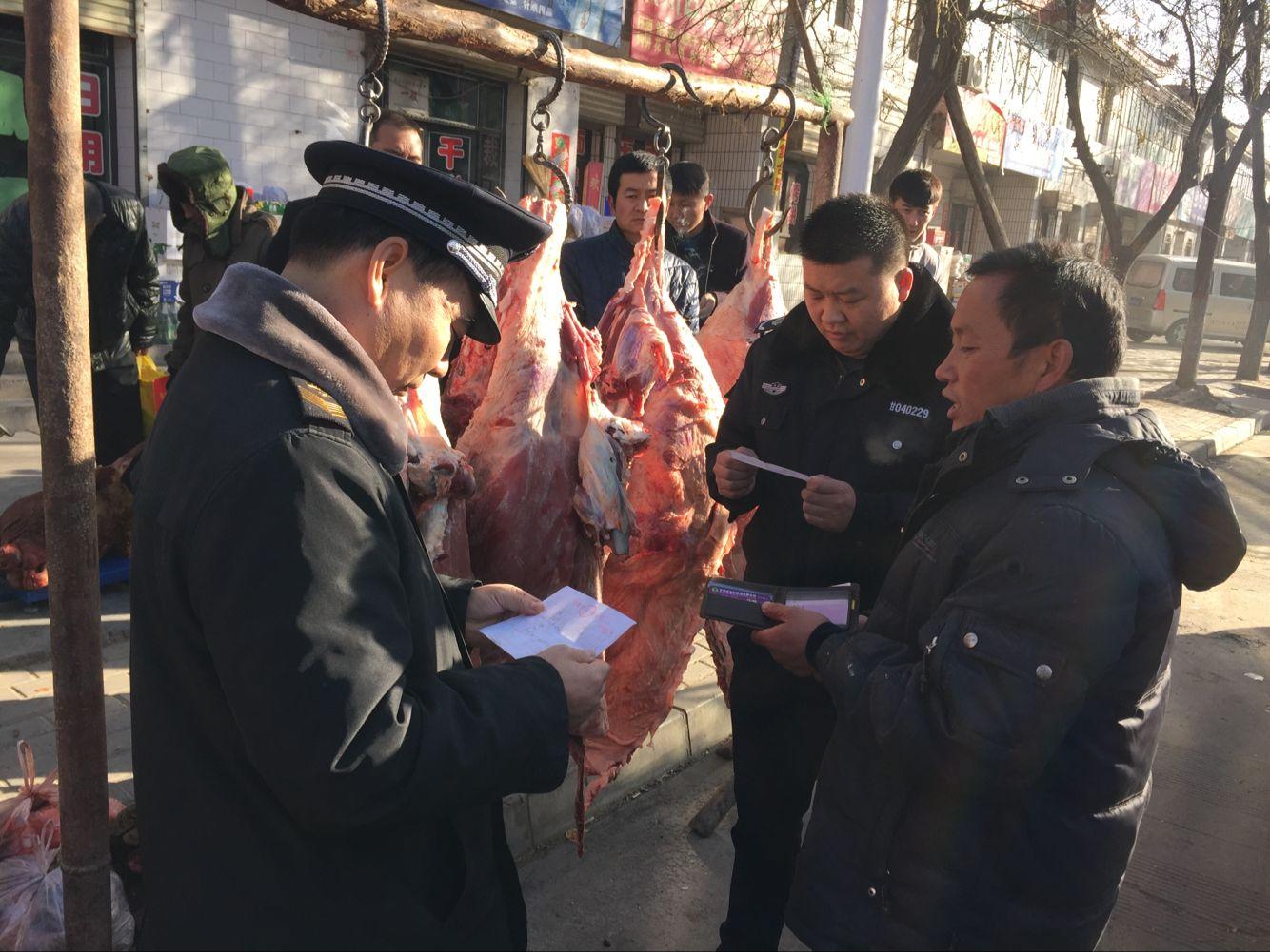 甘州区碱滩镇开展牛羊肉市场专项检查
