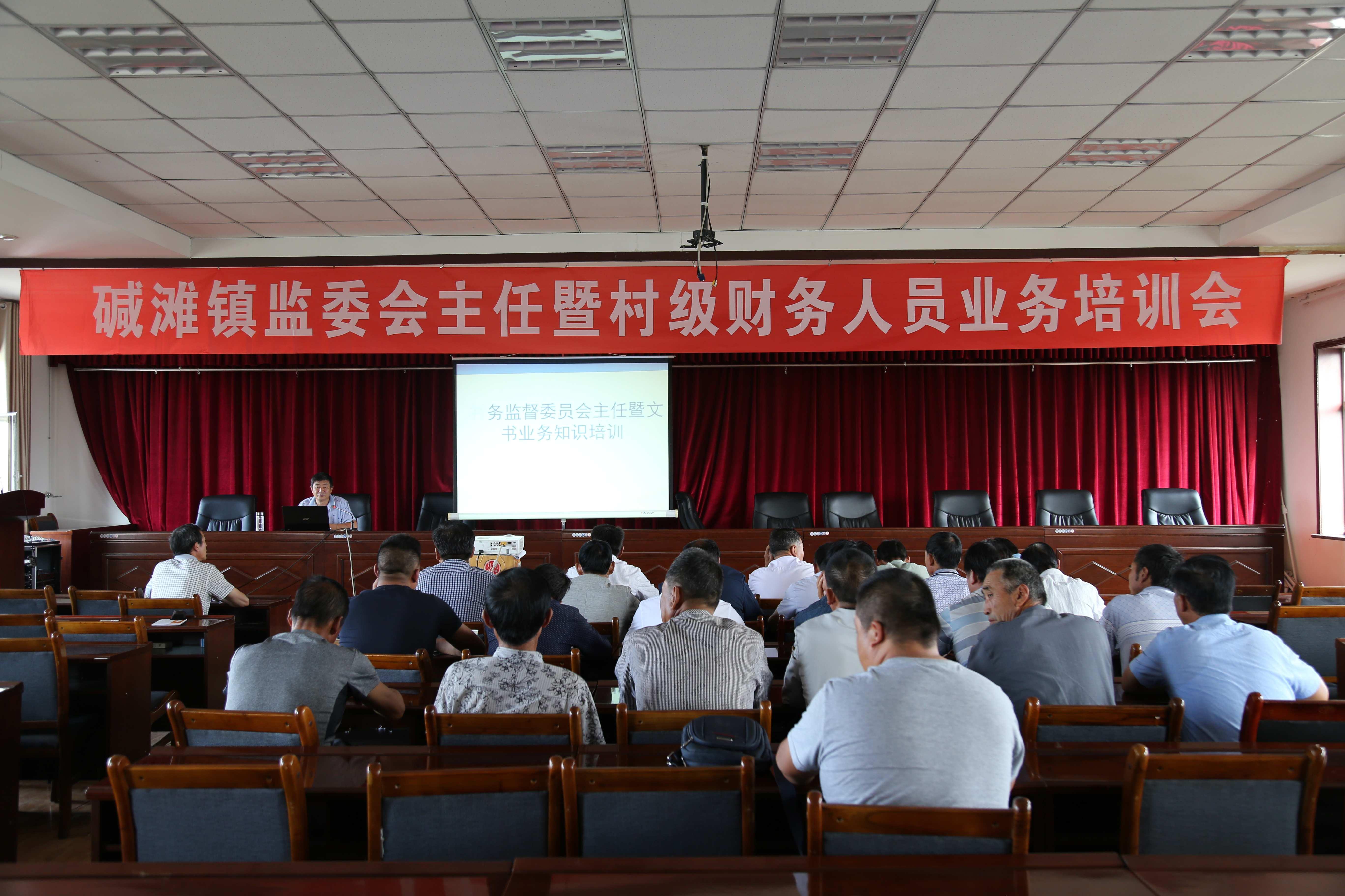 甘州区碱滩镇召开村务监督委员会主任暨财务人员培训会议