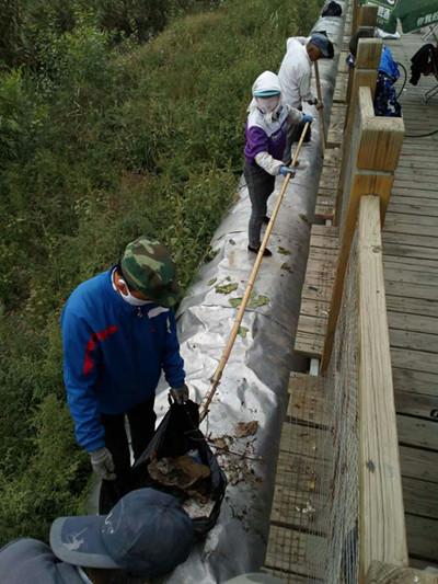 甘州区黑河湿地国家级自然保护区管理局扎实推进全域无垃圾集中整治