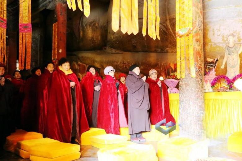 元宵节张掖大佛寺举行消灾祈福大法会