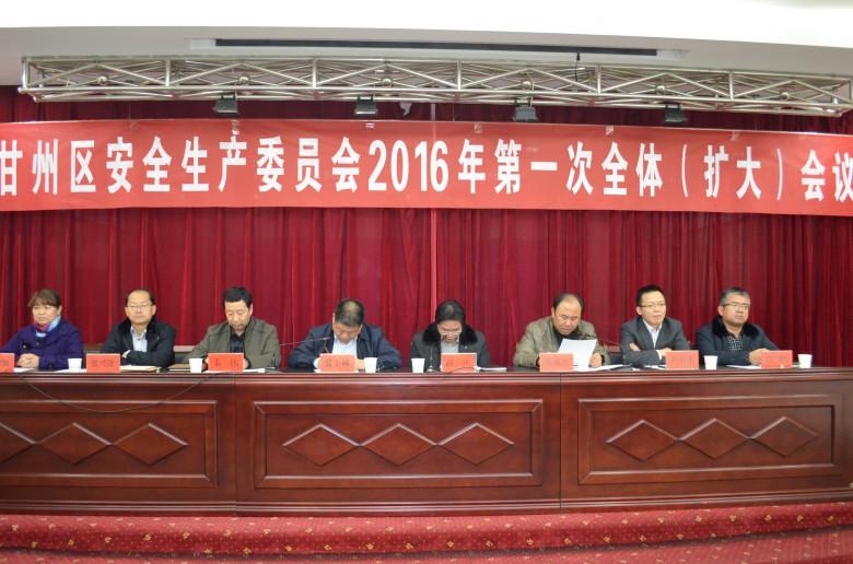 区委副书记、区长、区安委会主任张玉林主持召开全区安全生产工作会议
