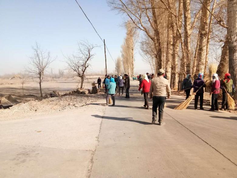 乌江镇发动群众进行环境卫生大整治