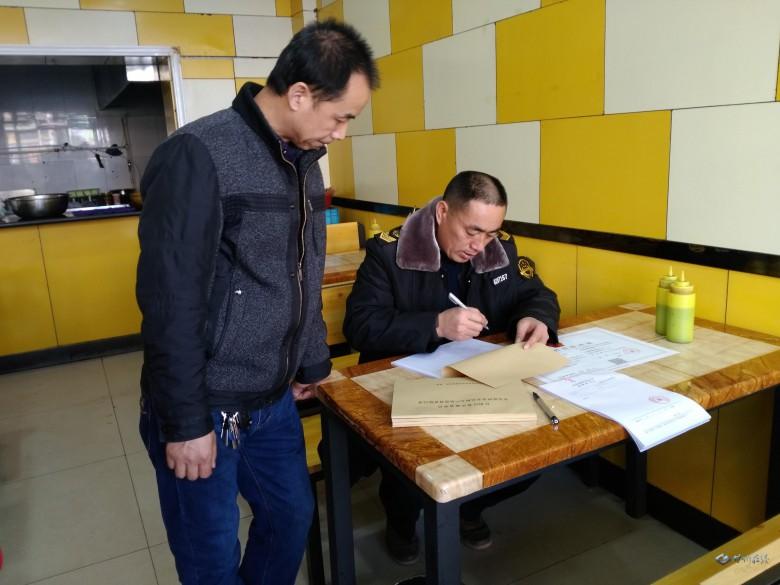 甘州区食药局新墩所进一步加强餐饮环节餐厨废弃物监督管理