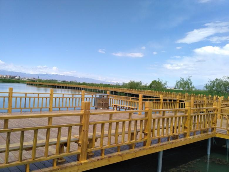 张掖国家湿地公园南湖景观工程修建完工