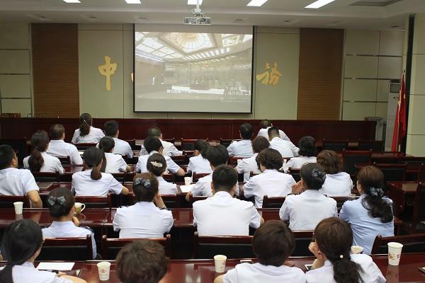 甘州区地方税务局组织全体干部收看政论专题片《将改革进行到底》