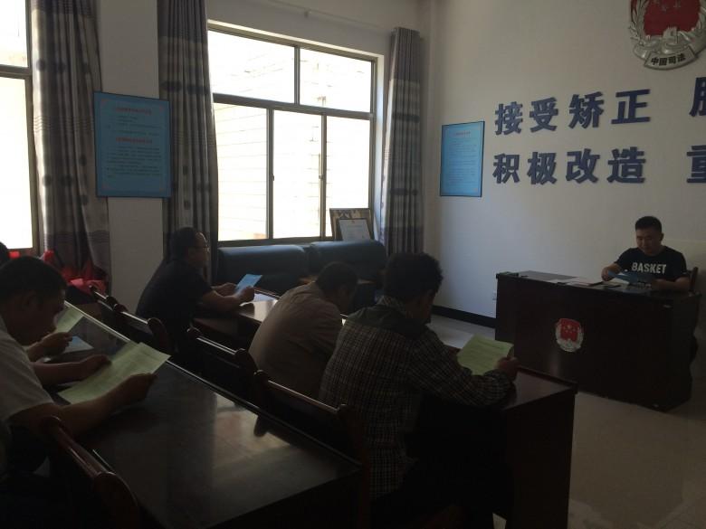 安阳乡司法所组织社区矫正人员参加公益劳动和反传销教育警示活动