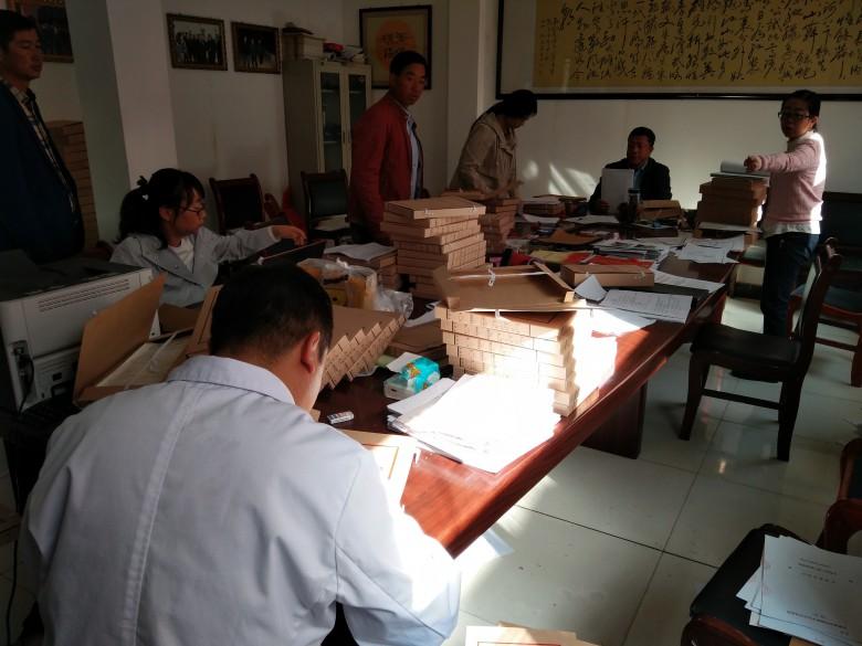 甘州区档案局深入乡村指导档案规范化管理工作