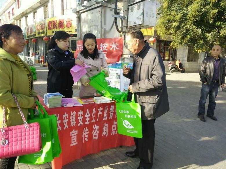 甘州区长安镇积极开展安全生产宣传工作