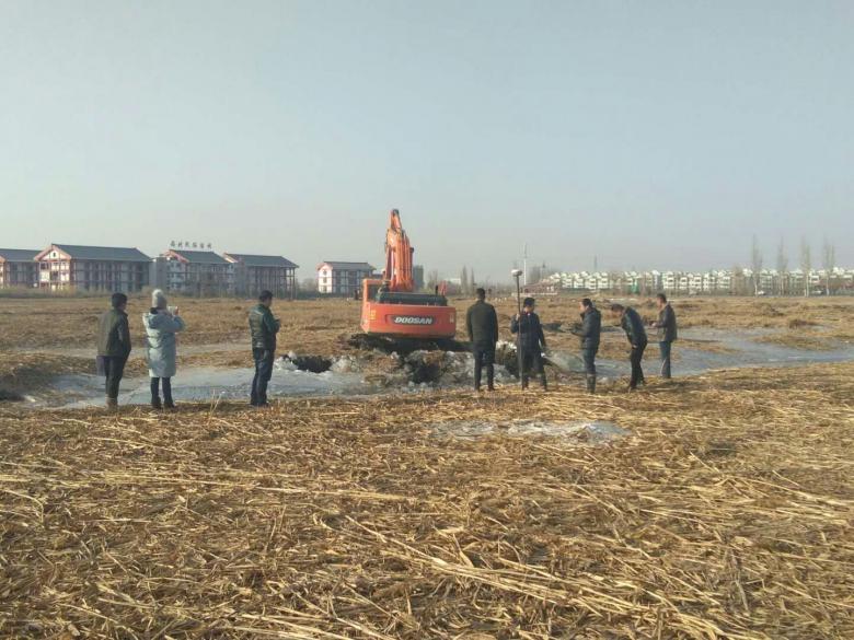 甘州区湿地局湖塘清淤工程有效开展