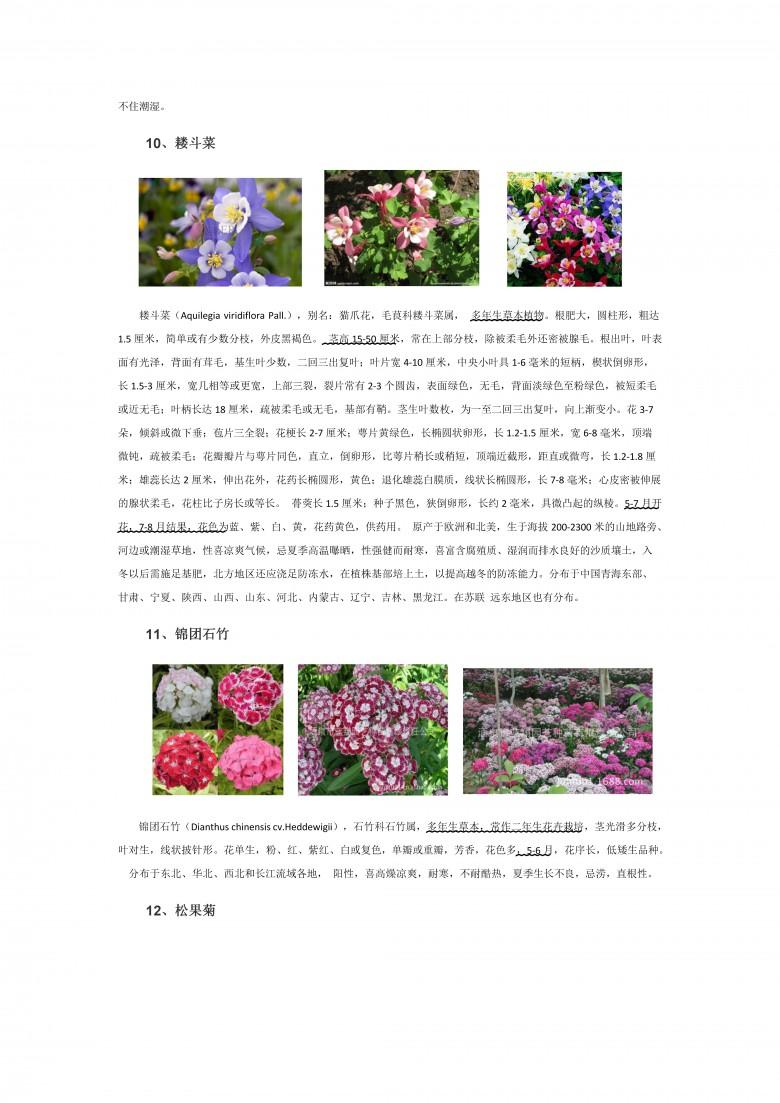 各类多年生宿根花卉地理分布及形态特征(二)