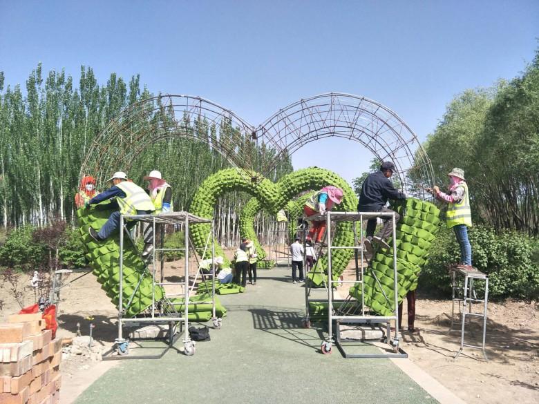 甘州区园林绿化局 努力打造创意园林