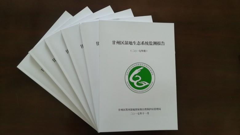 甘州区首份湿地生态系统监测报告编制完成