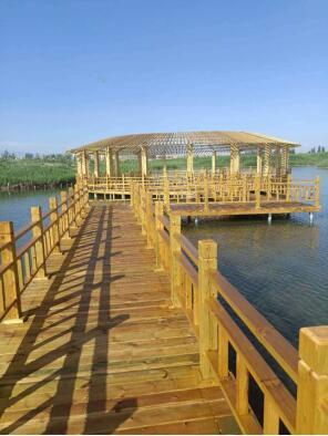张掖国家湿地公园防火人工巡查栈道工程完工