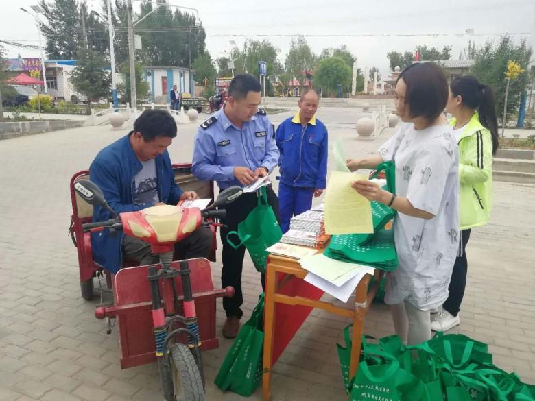 甘州区安阳乡开展安全生产月宣传咨询日活动