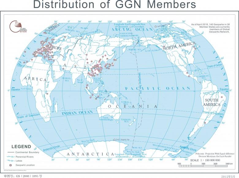 世界地质公园分布和中国地质公园分布
