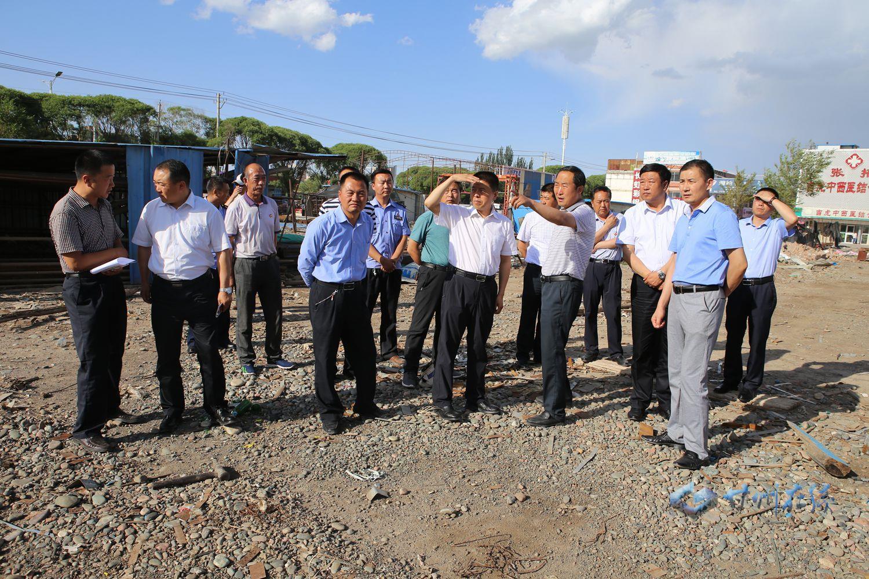 王韶华督导调研城区周边违建拆除和环保炕改造工作