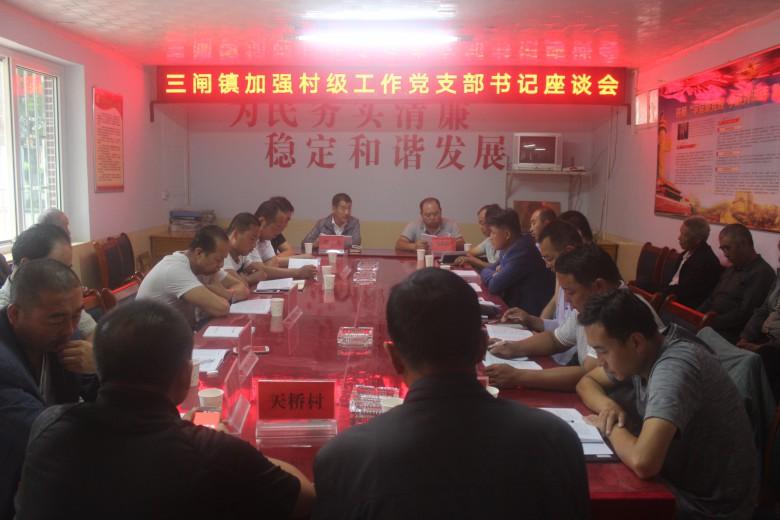 甘州区三闸镇召开加强村级工作党支部书记座谈会