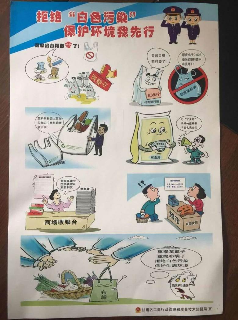 """甘州区商贸流通行业积极开展""""限塑""""专项整治"""