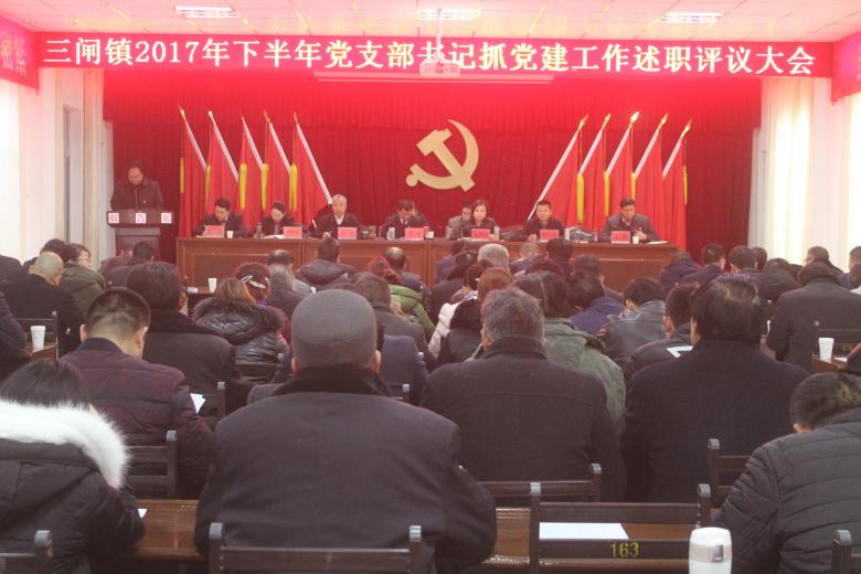 甘州区三闸镇召开党支部书记抓党建工作 述职评议大会