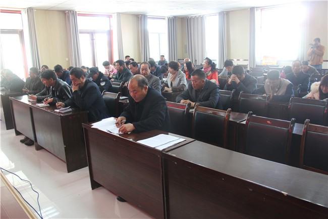 甘州区龙渠乡专题学习中国共产党第十八届五中全会公报