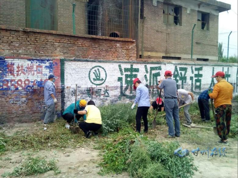 甘州区火车站街道康乐社区扎实开展全域无垃圾整治工作