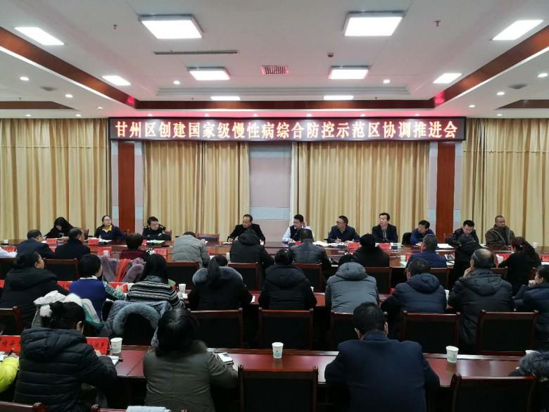 甘州区召开创建国家级慢性病综合防控示范区 协调推进会