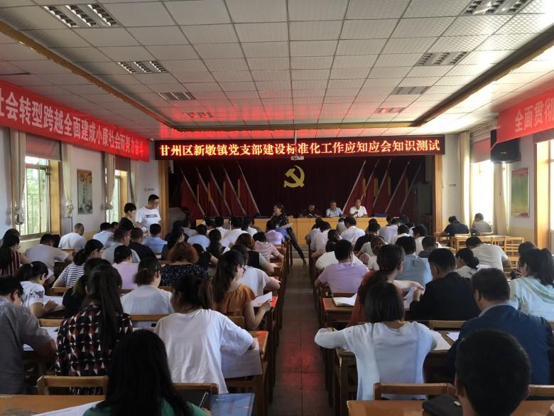 甘州区新墩镇组织党支部建设标准化工作应知应会内容测试